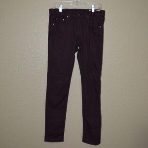 Sz 27 Rag & Bone The Dre Aged Wine Skinny Jeans